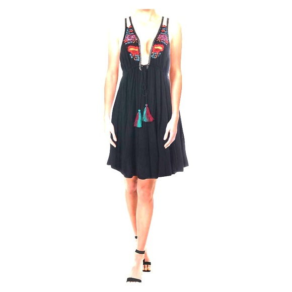 Free People Dresses & Skirts - NWOT Free People embroidered knit empire dress